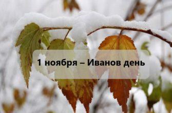 1 ноября – приметы и традиции в Иванов день