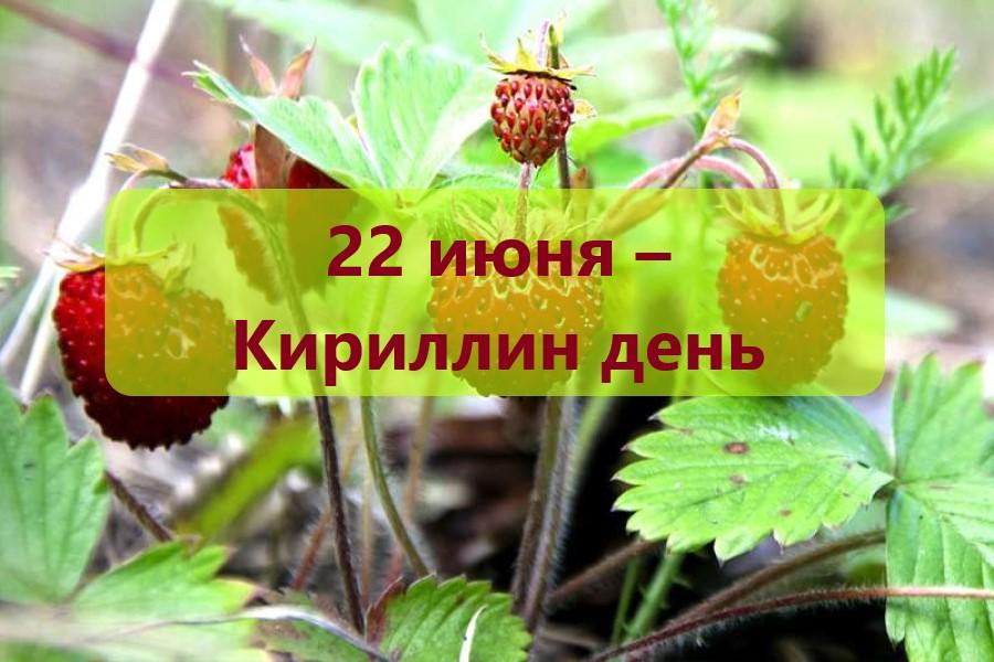 22 июня – Кириллин день