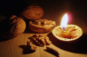 Гадание на воде и свече со скорлупой ореха