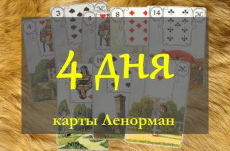 Расклад «4 дня» на сабытия ближайших четырёх дней