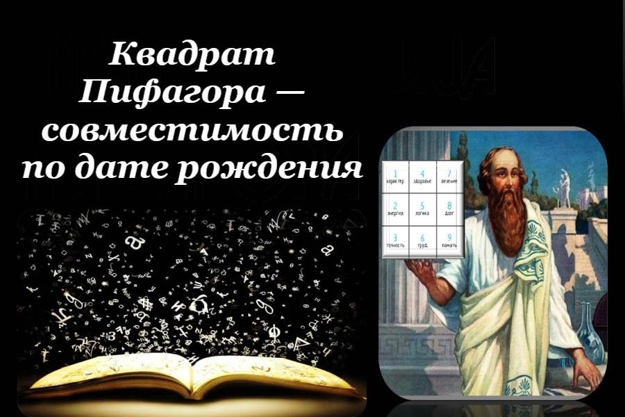 Квадрат Пифагора — рассчитать совместимость по дате рождения