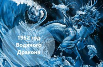 1952 год: характеристика людей, родившихся под знаком Водяного Дракона