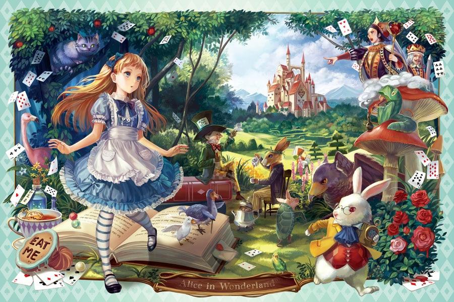 Онлайн гадание по цитатам книги «Алиса в Стране чудес»